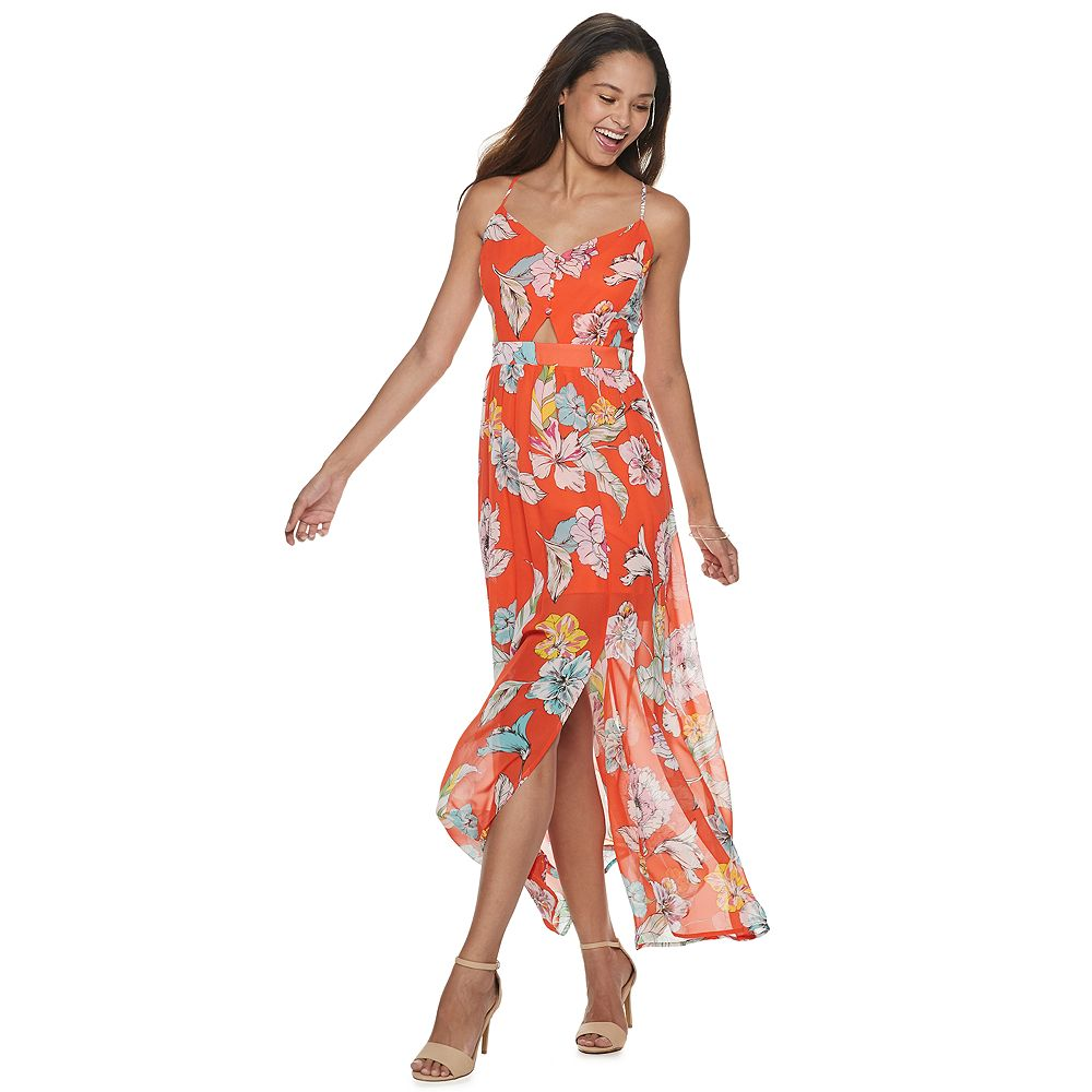 Juniors' Candie's® Chiffon Maxi Dress