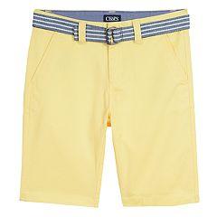 Boys 8-20 Chaps Preston Belted Shorts