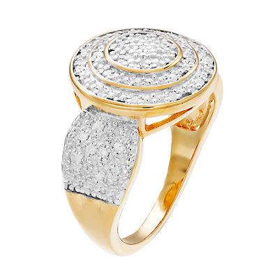 Women's 1/4CTW White Diamond Ring in 14K Gold Over Sterling Silver