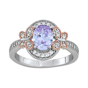 Lily & Lace Two-Tone Cubic Zirconia Butterfly Ring