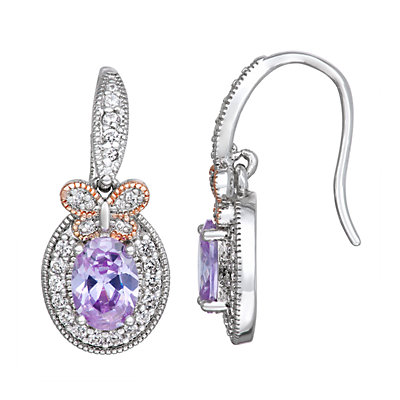 Lily & Lace Two-Tone Cubic Zirconia Butterfly Earrings