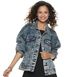 Juniors' Rolling Stones Denim Jacket