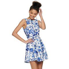0259c4a03d Juniors  Speechless Sleeveless Lace Skater Dress