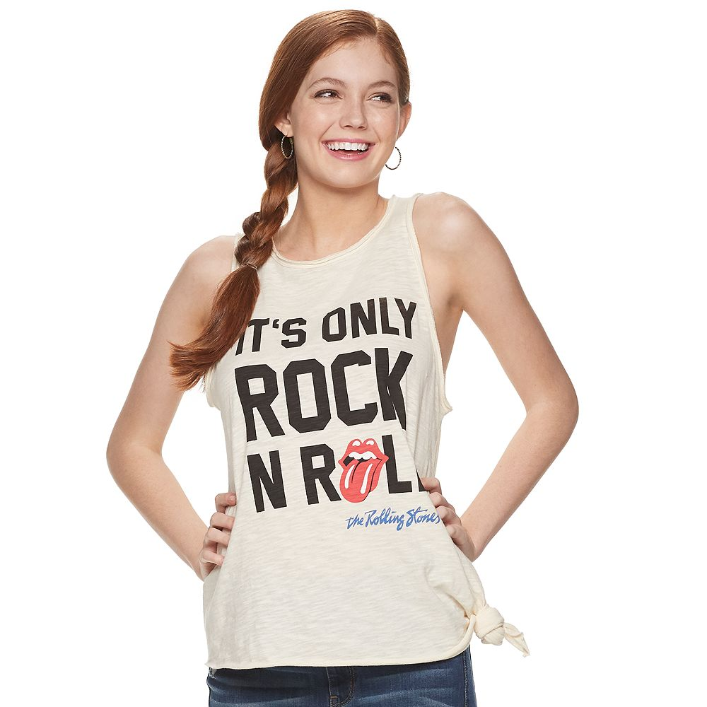 "Juniors' ""It's Only Rock N Roll"" Rolling Stones Tank Top"
