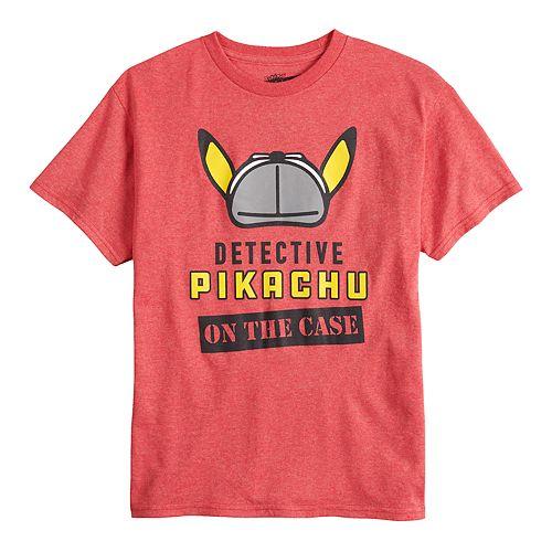 Boys 8-20 Pokemon Pikachu Detective Tee