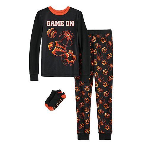 Boys 6-12 Cuddl Duds 2-Piece Pajama & Socks Set