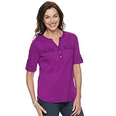Petite Croft & Barrow® Roll-Tab Utility Henley