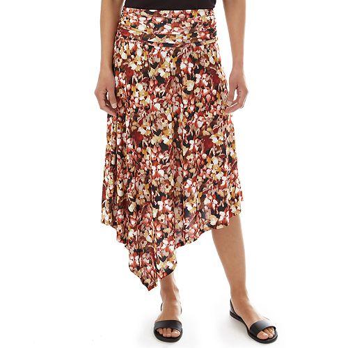 Women's Apt. 9® Printed Asymmetric Skirt