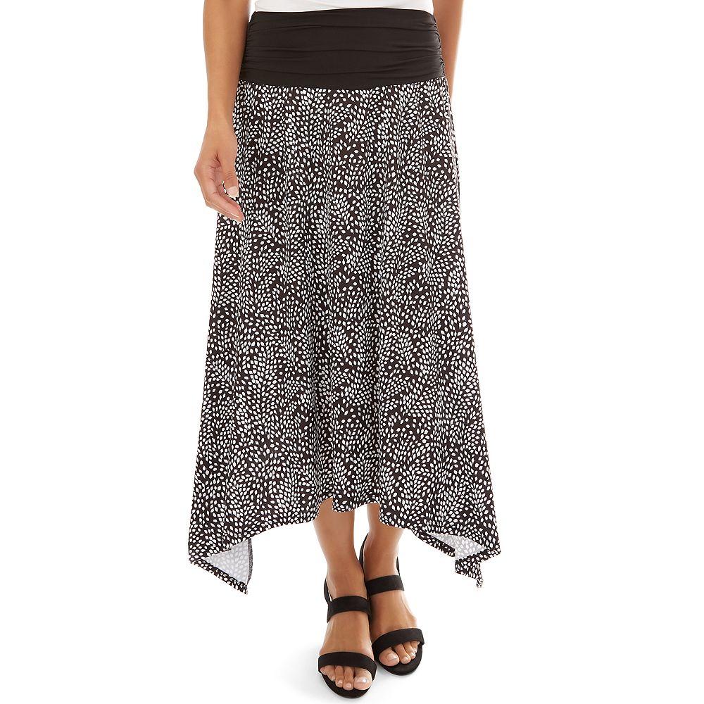 Women's Apt. 9® Allover Print Sharkbite Hem Skirt