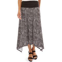 fa6e0ef7fab Women s Apt. 9® Allover Print Sharkbite Hem Skirt