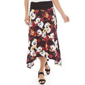 Women's Apt. 9® Allover Print Sharkbite Hem Skirt