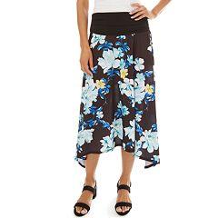 41b710395ea3 Women s Apt. 9® Allover Print Sharkbite Hem Skirt