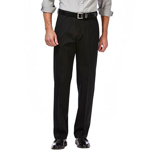 Big & Tall Haggar Premium No-Iron Khaki Stretch Straight-Fit Flat-Front Pants