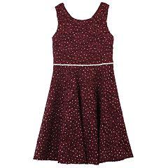 cfffe380603 Girls 7-16   Plus Size Speechless Allover Lace Sparkle Dress