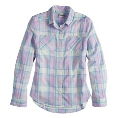 Girls 7-16 & Plus Size Mudd® Flannel Long Sleeve Shirt