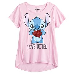 Girls 7-16 & Plus Size Disney Lilo & Stitch 'Love Bites' Stitch Valentine's Day Tee
