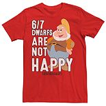 Men's Disney's Snow White and the Seven Dwarves All Not Happy Tee