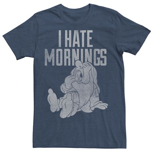 Men's Disney Snow White and the Seven Dwarves Hate Mornings Tee
