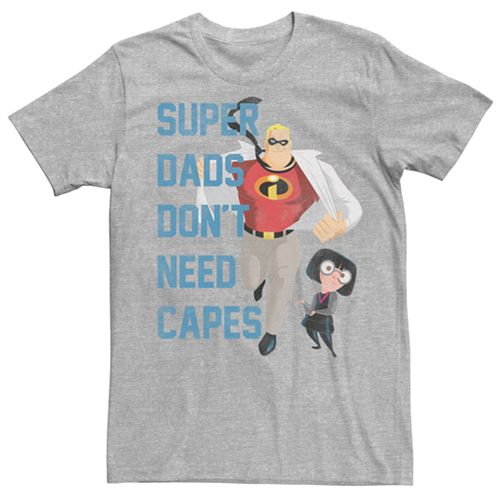 Men's Disney / Pixar Incredibles Super Dads Don't Need Capes Tee