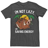 Men's Disney's Lion King Pumba I'm Not Lazy Tee