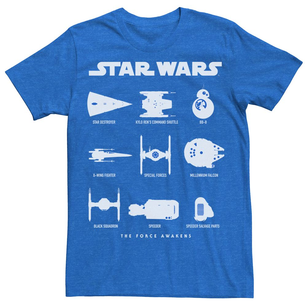 Men's Star Wars Ships And Droids Tee