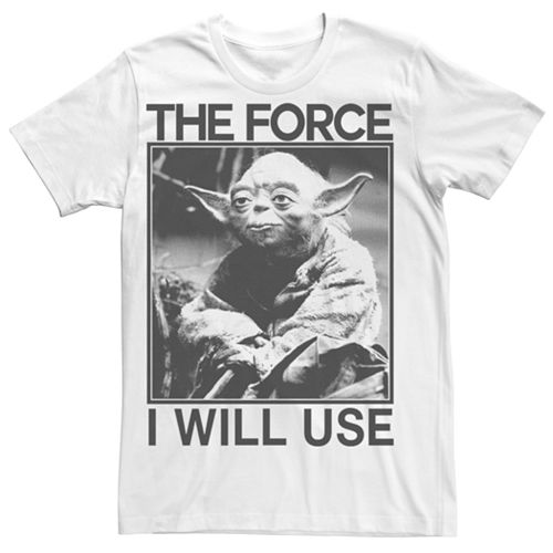 Men's Star Wars Yoda The Force I Will Use Tee
