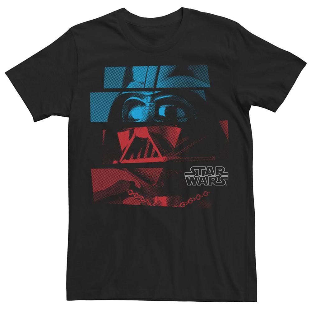 Men's Star Wars Darth Vader Colorful Panel Portrait Tee