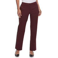 Women's Apt. 9® Torie Midrise Curvy Straight-Leg Dress Pants