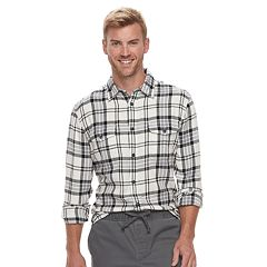 Men's SONOMA Goods for Life™ Slim-Fit Flannel Button-Down Shirt