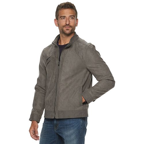 Men's Urban Republic Faux Suede Moto Jacket