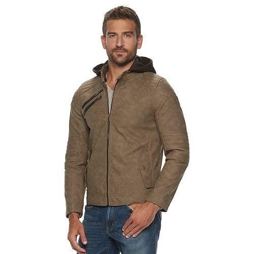 Men's Urban Republic Faux Leather Moto Jacket