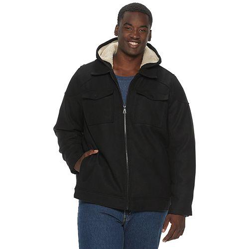 Big & Tall Urban Republic Sherpa Lined Wool Officer Jacket