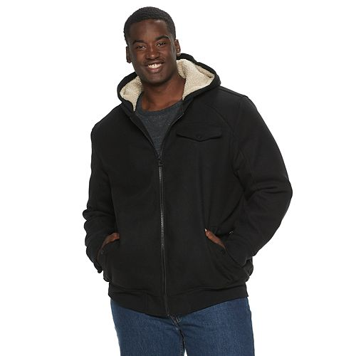 Big & Tall Urban Republic Sherpa Lined Wool Blend Varsity Jacket
