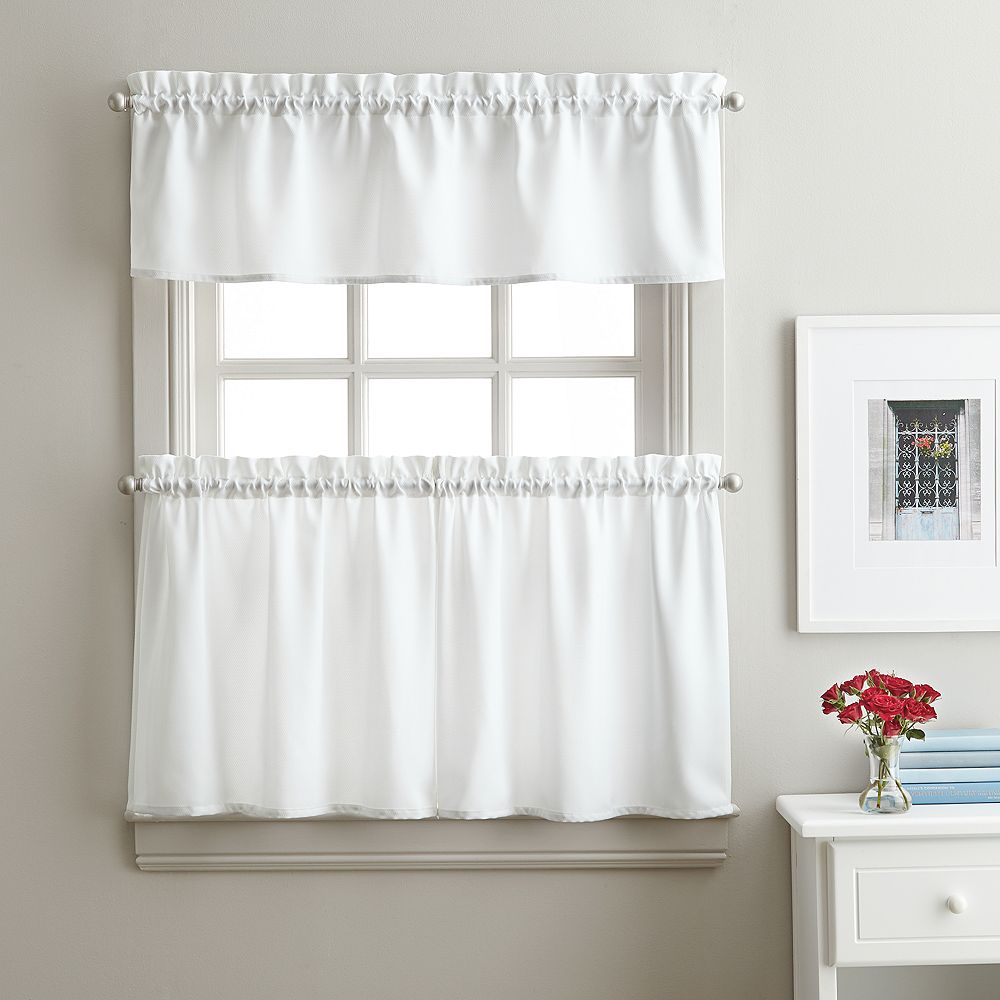 Window Curtainworks Solid Twill Tier Set