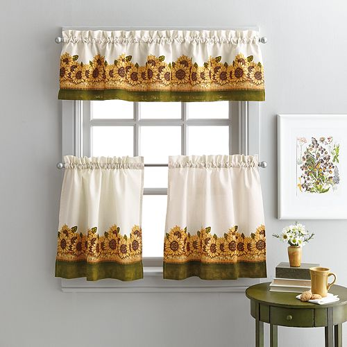 Window Curtainworks Sunflower Garden Tier Set