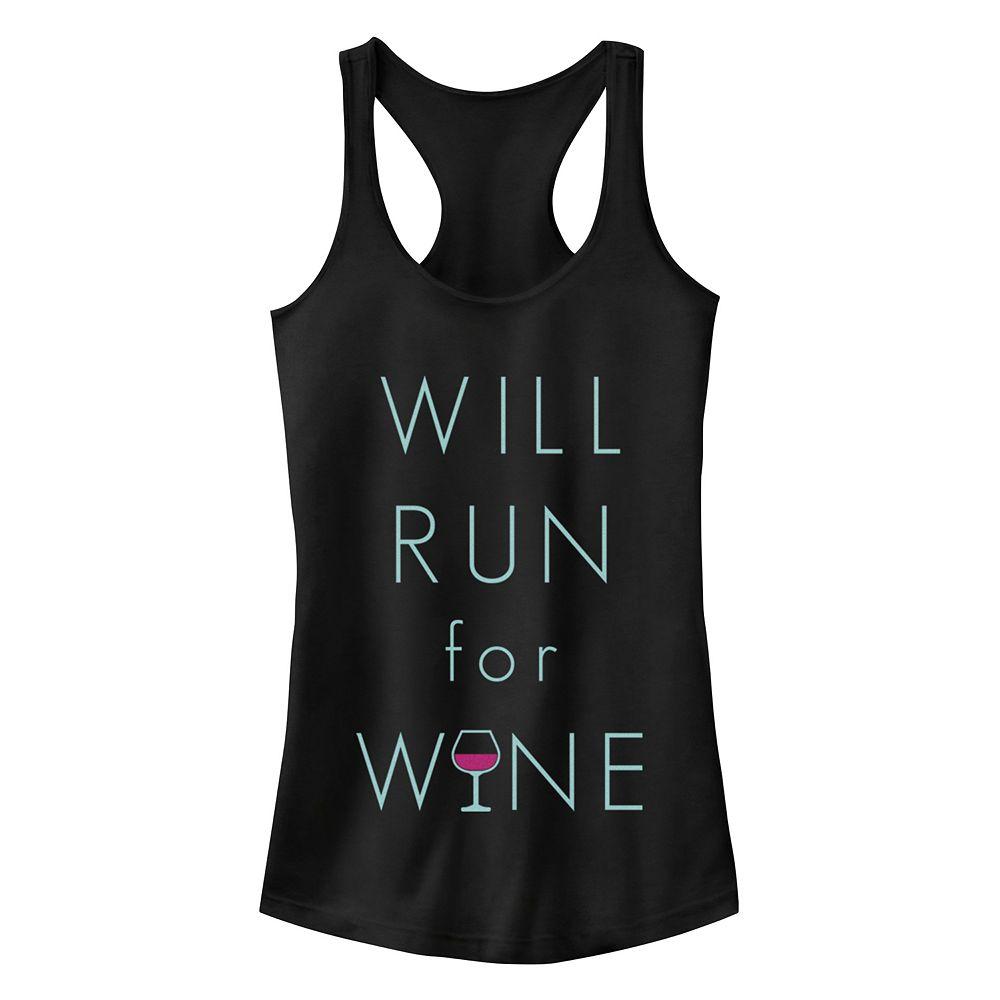 """Run For Wine"" Racerback Tank"
