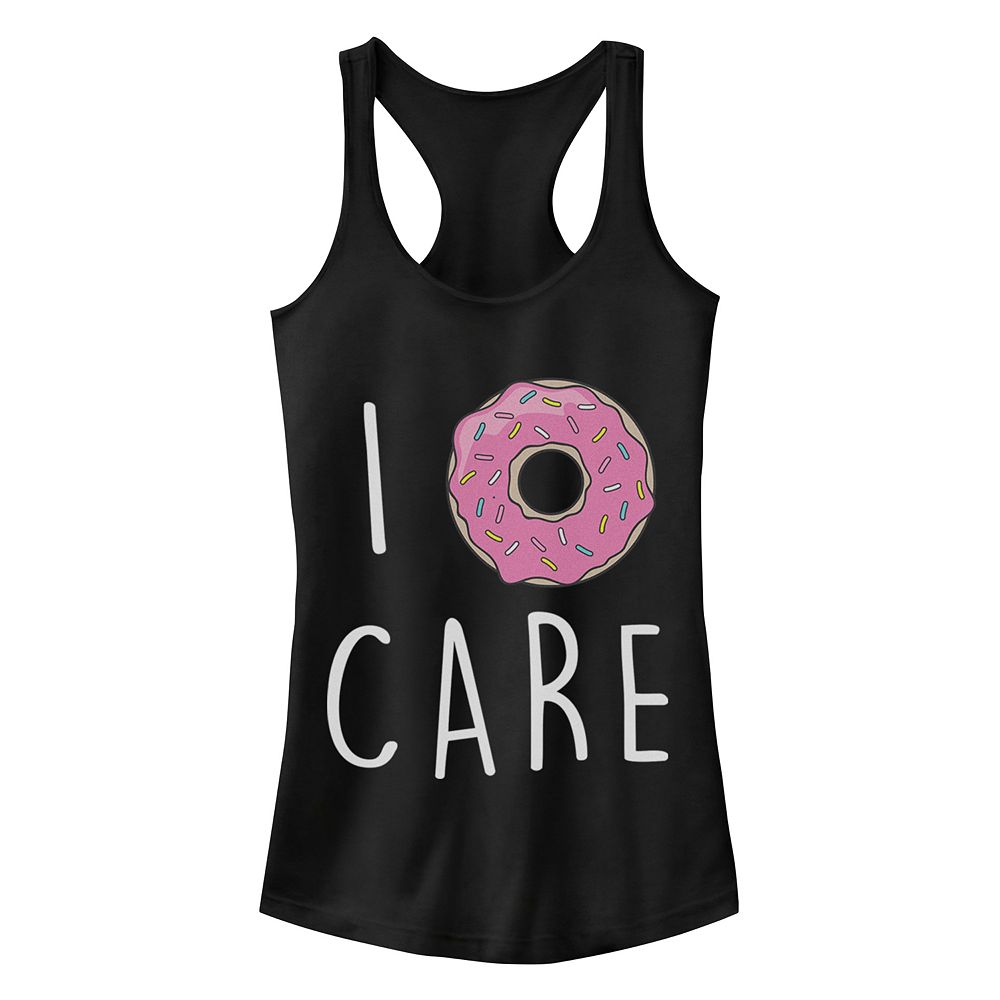 Junior's Chin-Up I Donut Care Racerback Tank