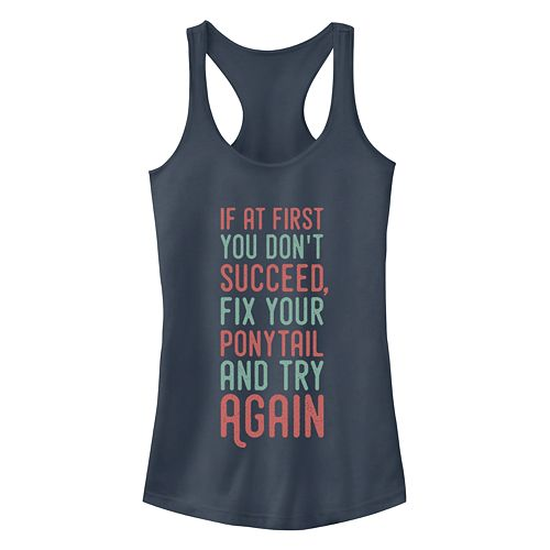 Junior's Chin-Up Try Again Racerback Tank