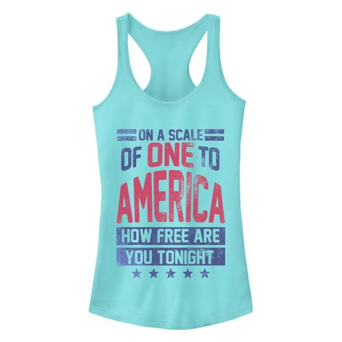 Junior's Chin-Up One To America Racerback Tank