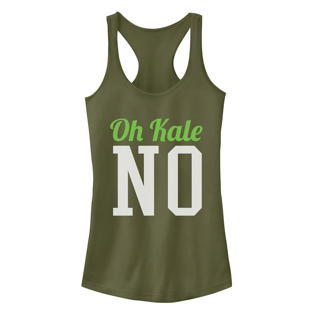 Junior's Chin-Up Oh No Kale Ideal Racerback Tank