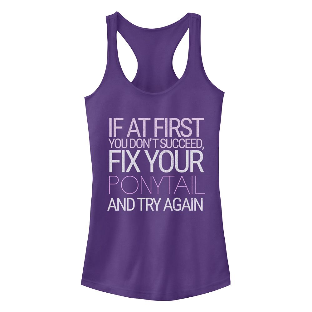 Junior's Chin-Up Fix Your Ponytail Again Racerback Tank