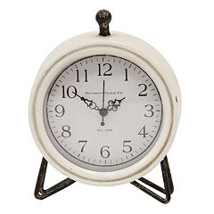 Stratton Home Decor Daisy Table Clock