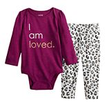 Baby Girl Jumping Beans® Graphic Bodysuit & Pants Set