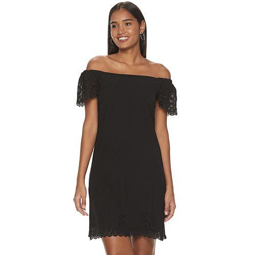 Women's ELLE™ Scalloped Off-Shoulder Dress