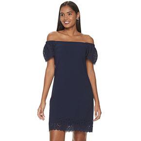 Women's ELLE? Scalloped Off-Shoulder Dress
