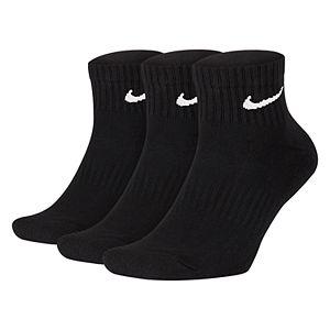 Men's Nike 3-pack Everyday Cushion Quarter Training Socks