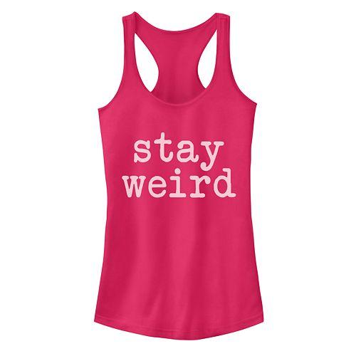"""Juniors' """"Stay Weird"""" Tank"""