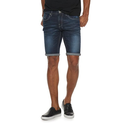 Men's XRAY Washed Roll-Up Denim Short