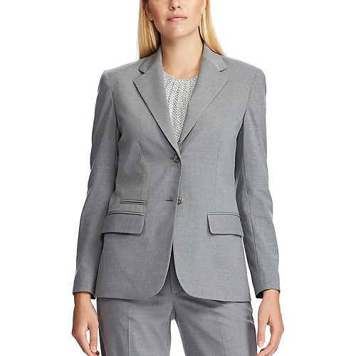 Women's Chaps Angela Grey Blazer Jacket