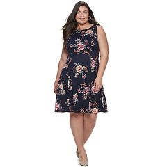 3fd5da8d709 Plus Size Apt. 9 Stretch Lace Fit and Flare Dress